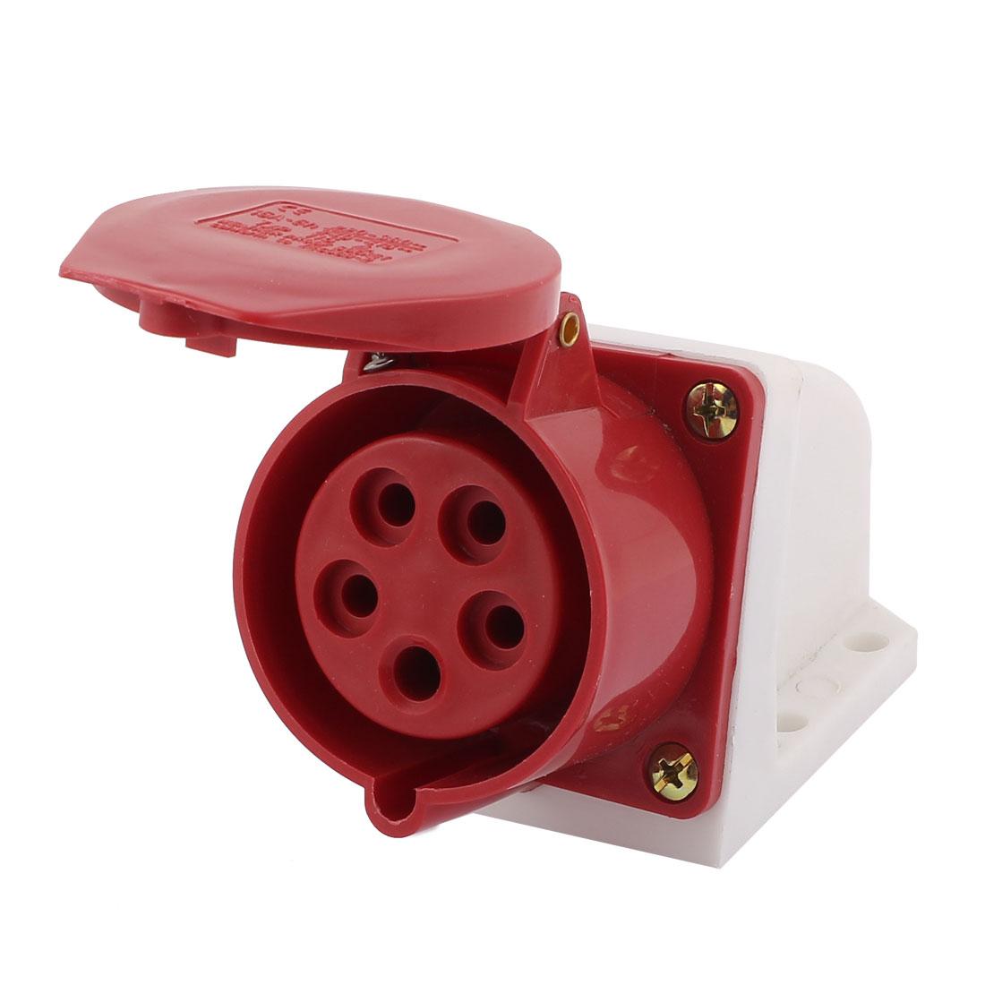 AC 240V-415V 16A IP44 3P+N+E 5P Female Industrial Caravan Waterproof Socket