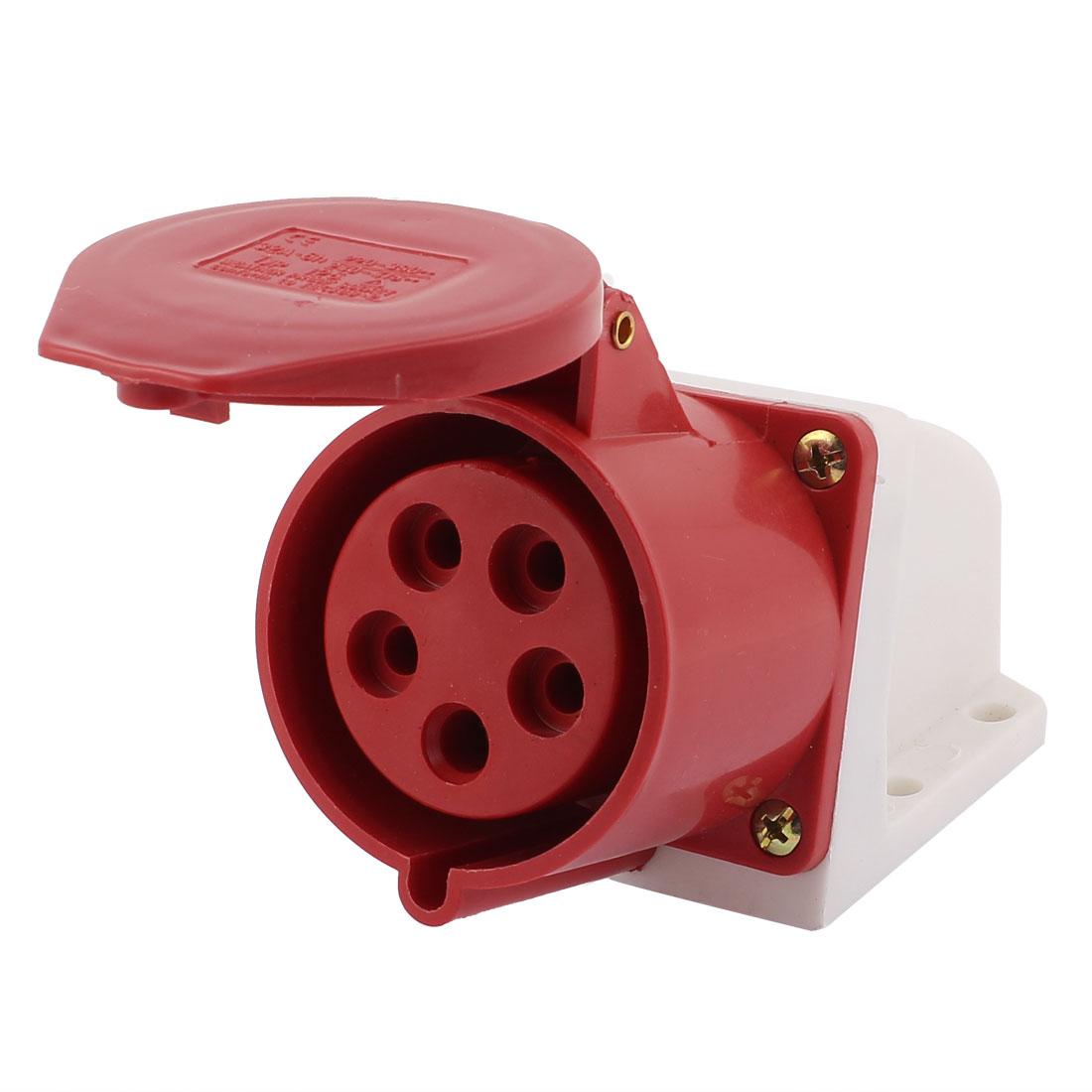 AC 240V-415V 32A IP44 3P+N+E 5P Female Industrial Caravan Waterproof Socket