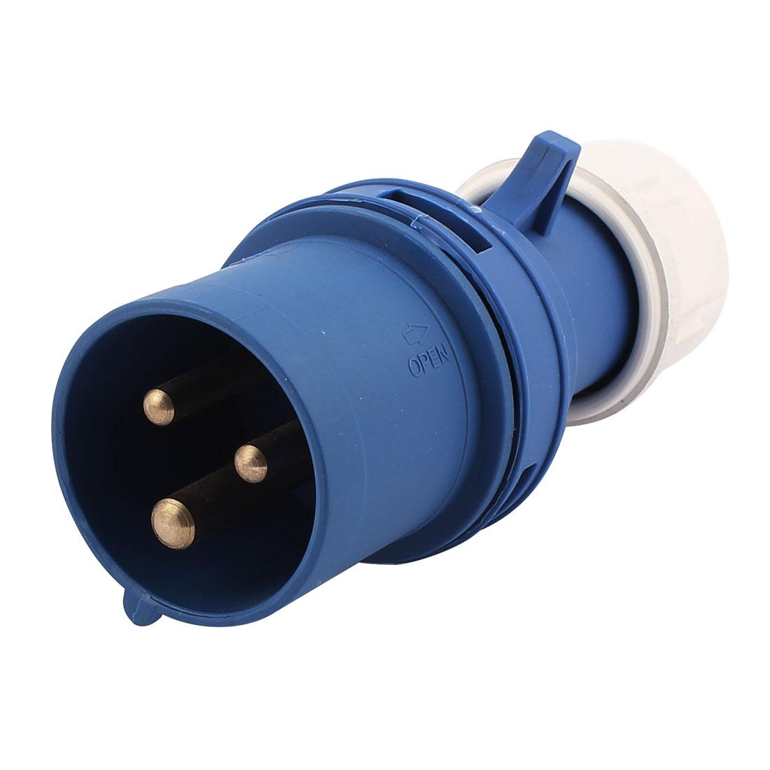 AC 200V-250V 16A IP44 2P+E 3P Male Industrial Electrical Plug