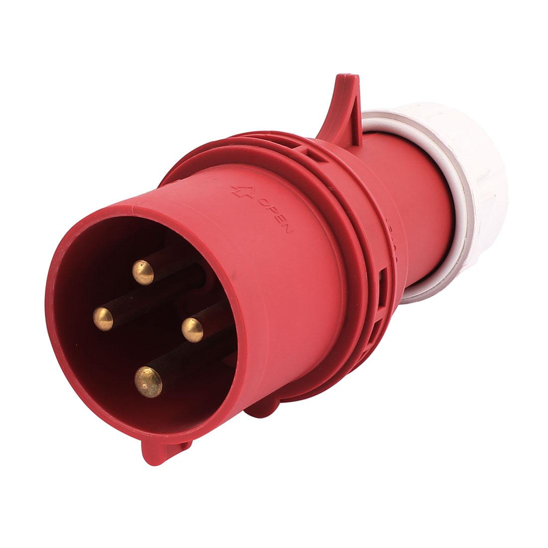 AC 380V-415V 21A IP44 3P+E 4-Terminal Male Industrial Electrical Plug