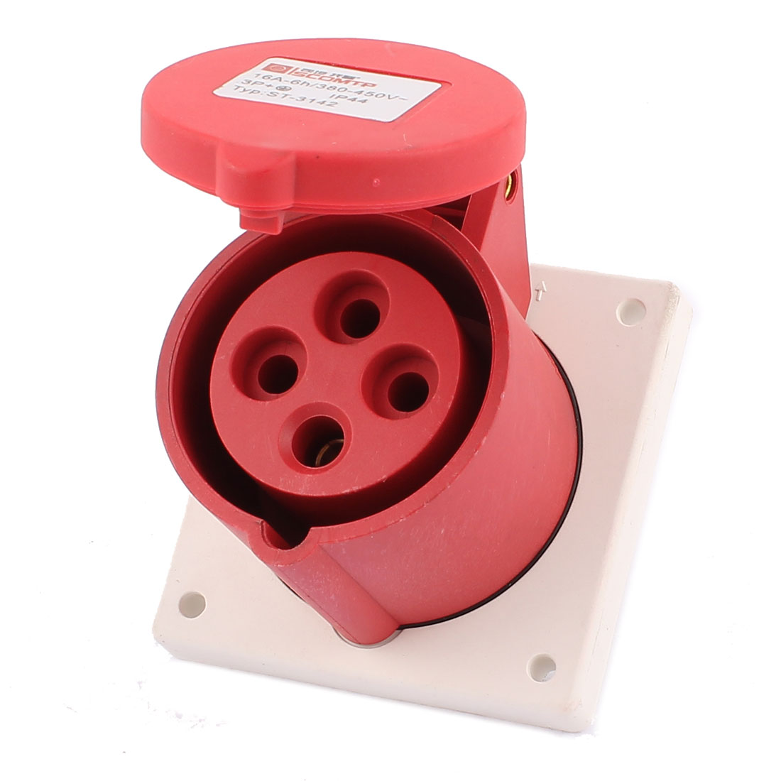 AC 380V-450V 16A IP44 3P+E 4P Female Industrial Concealing Straight Socket