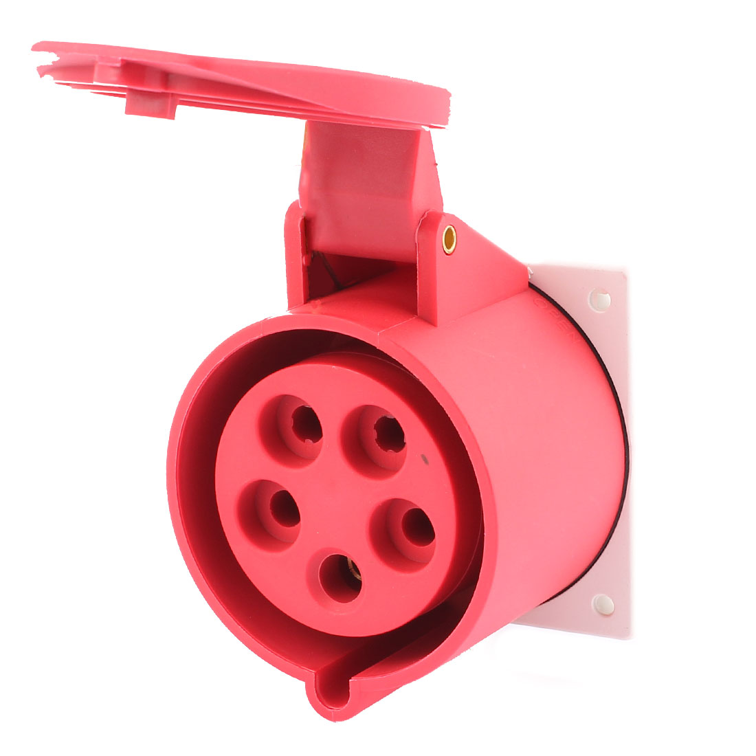 AC 220V-415V 32A IP44 3P+N+E 5-Terminal Female Industrial Conceal Straight Socket
