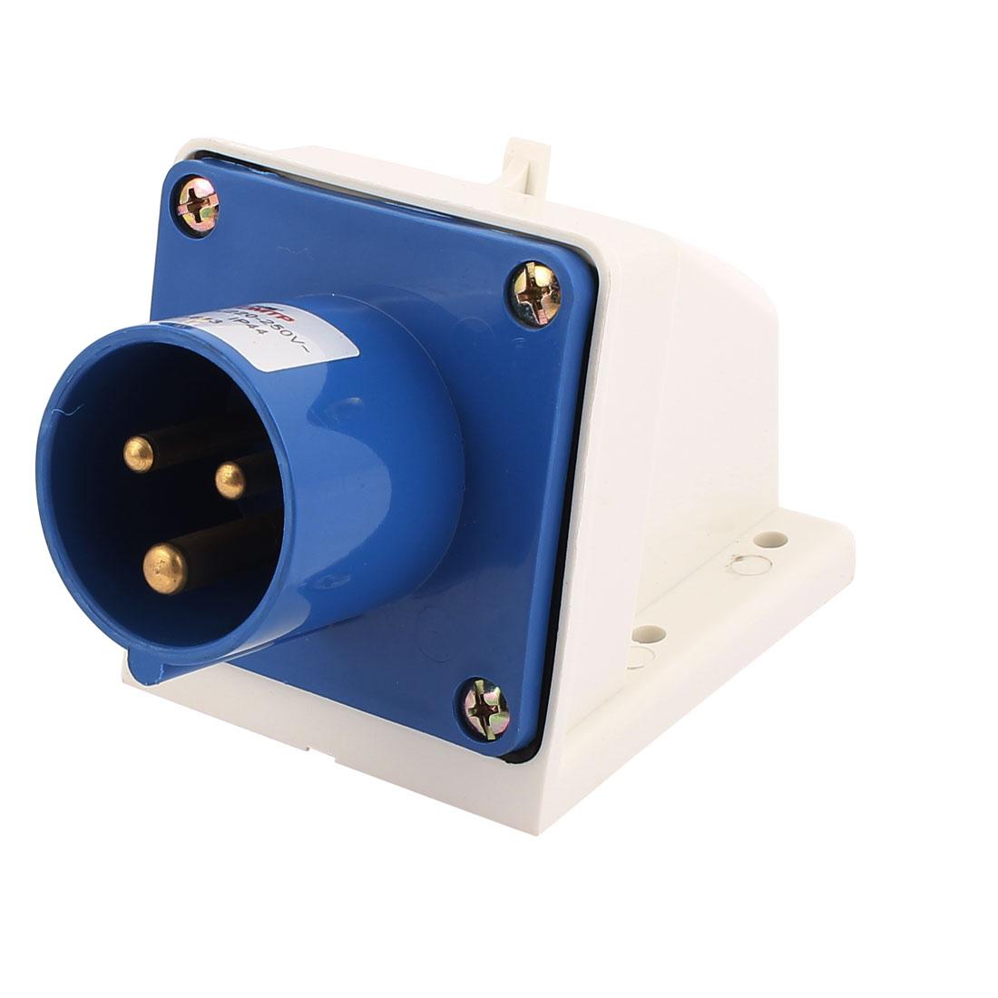 AC 220V-250V 16A IP44 2P+E 3-Terminal Male Industrial Caravan Panel Plug