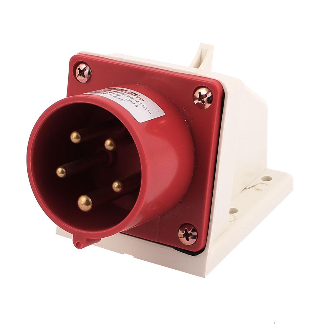 AC 220V-415V 16A IP44 3P+N+E 5-Terminal Male Industrial Caravan Panel Plug