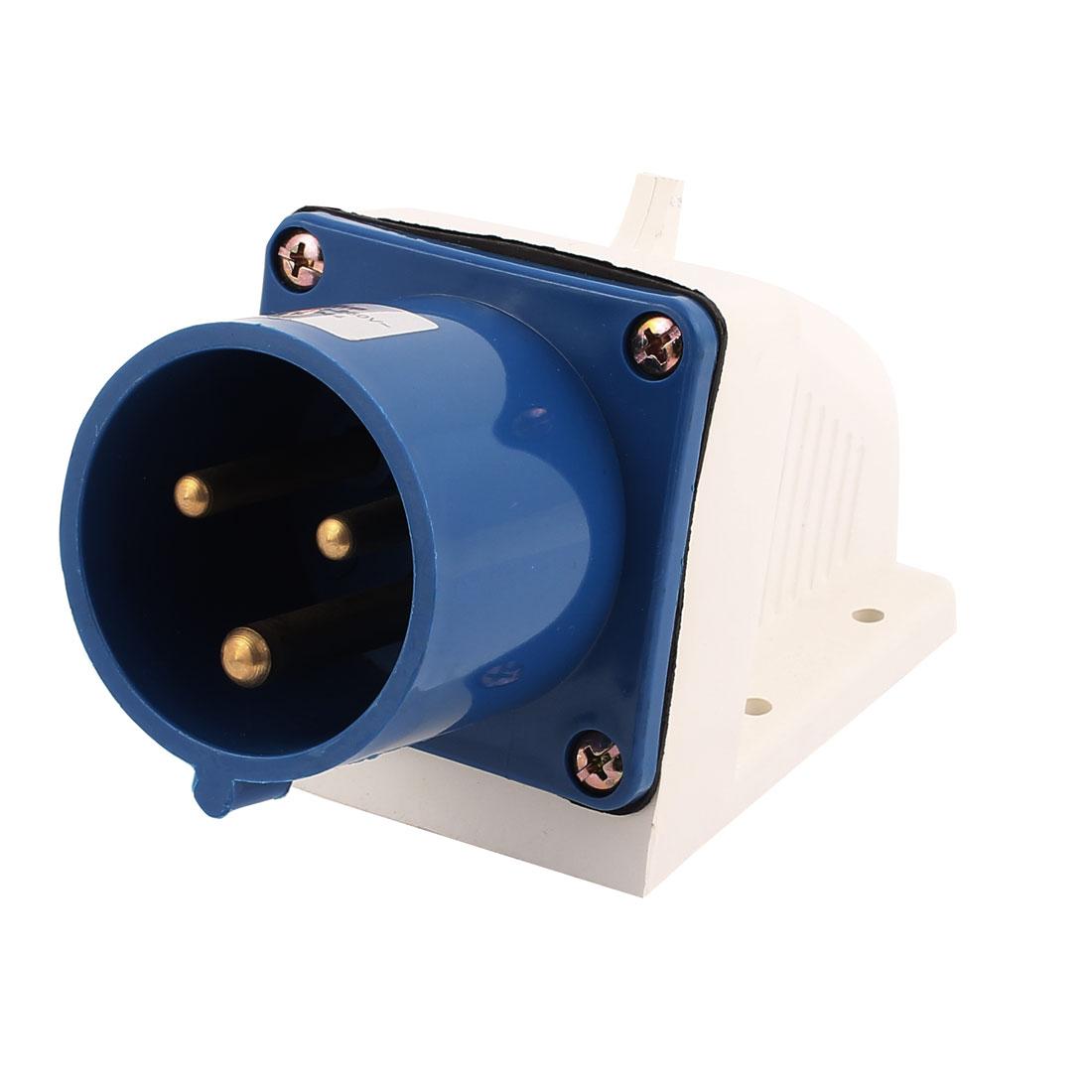 AC 220V-250V 32A IP44 2P+E 3-Terminal Male Industrial Caravan Panel Plug
