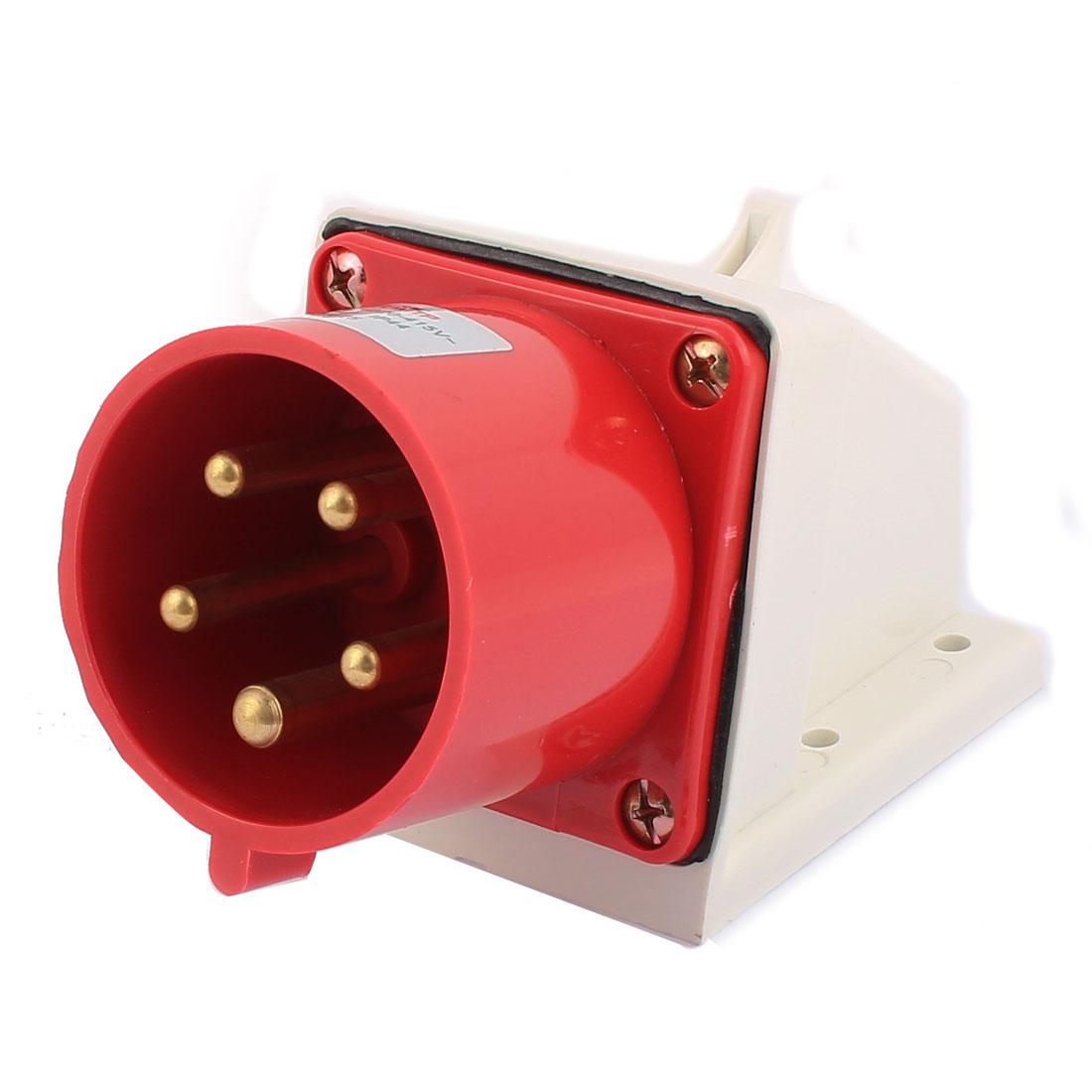 AC 220V-415V 32A IP44 3P+N+E 5-Terminal Male Industrial Caravan Panel Plug