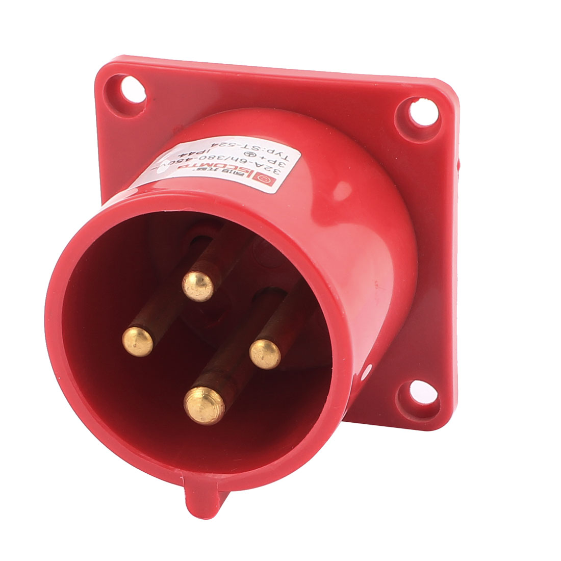 AC 380V-450V 32A IP44 3P+E 4P Male Industrial Consealing Plug