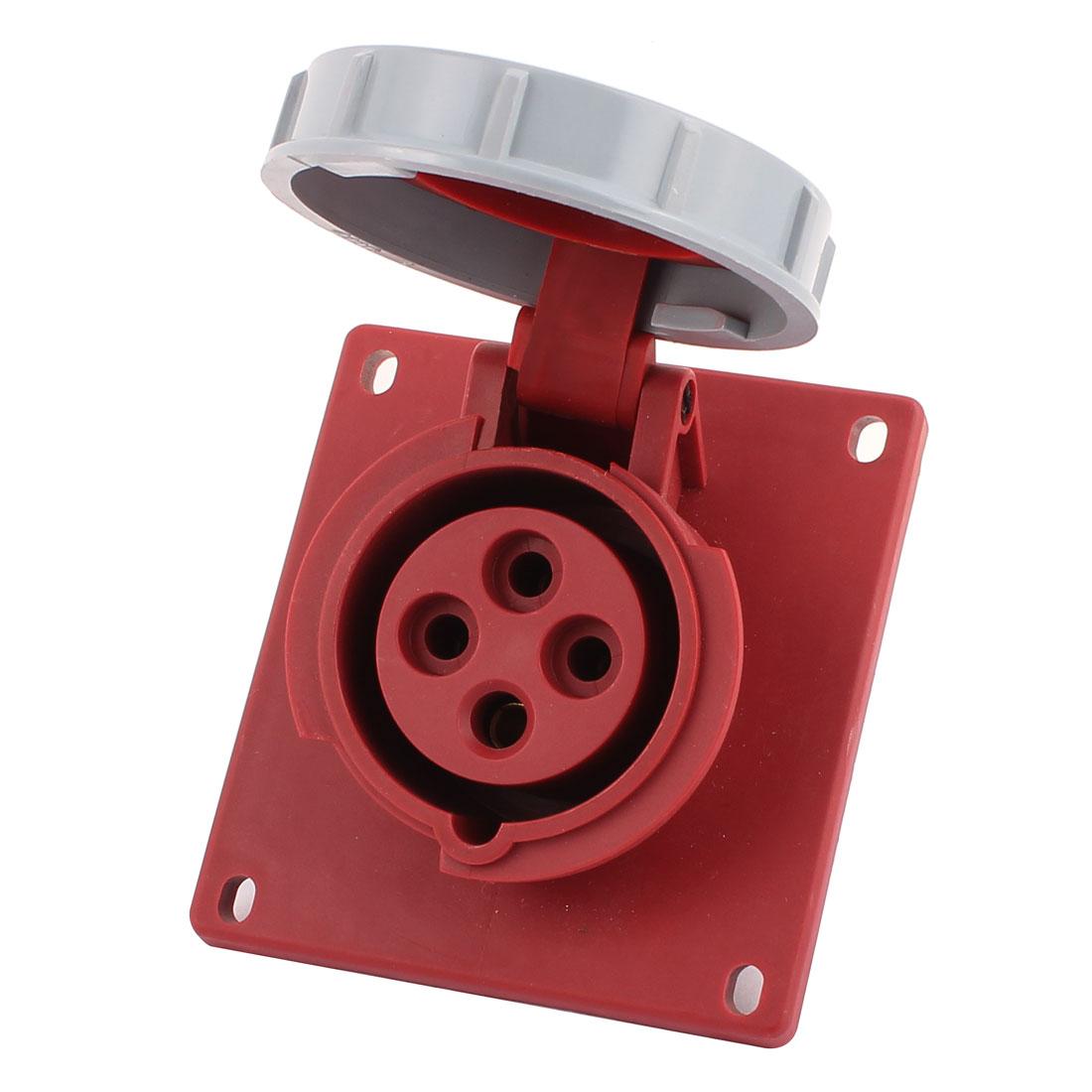AC 380V-450V 16A IP67 3P+E 4P Female Industrial Consealing Oblique Socket
