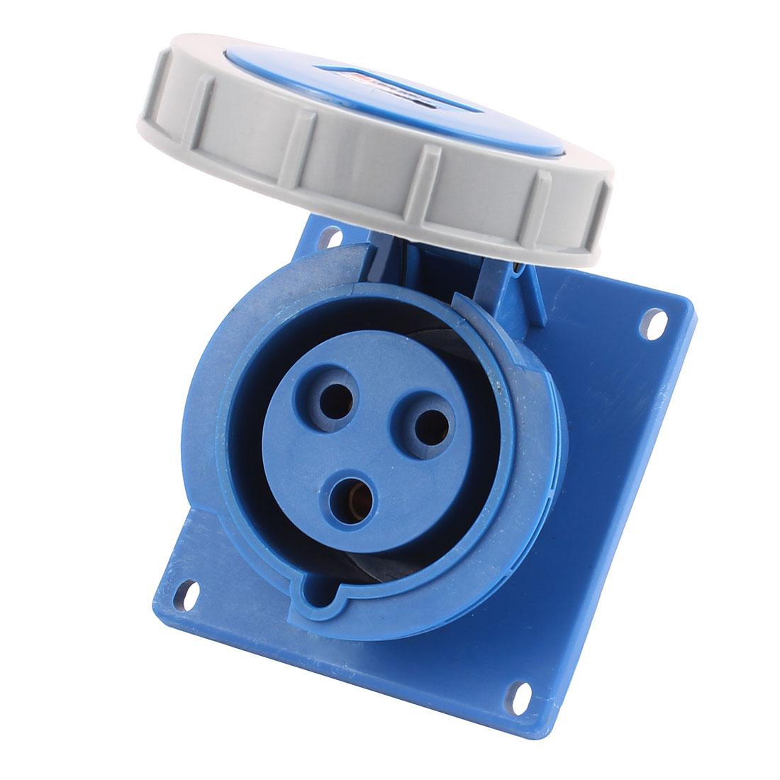 AC 220V-250V 32A IP67 2P+E 3P Female Industrial Consealing Oblique Socket