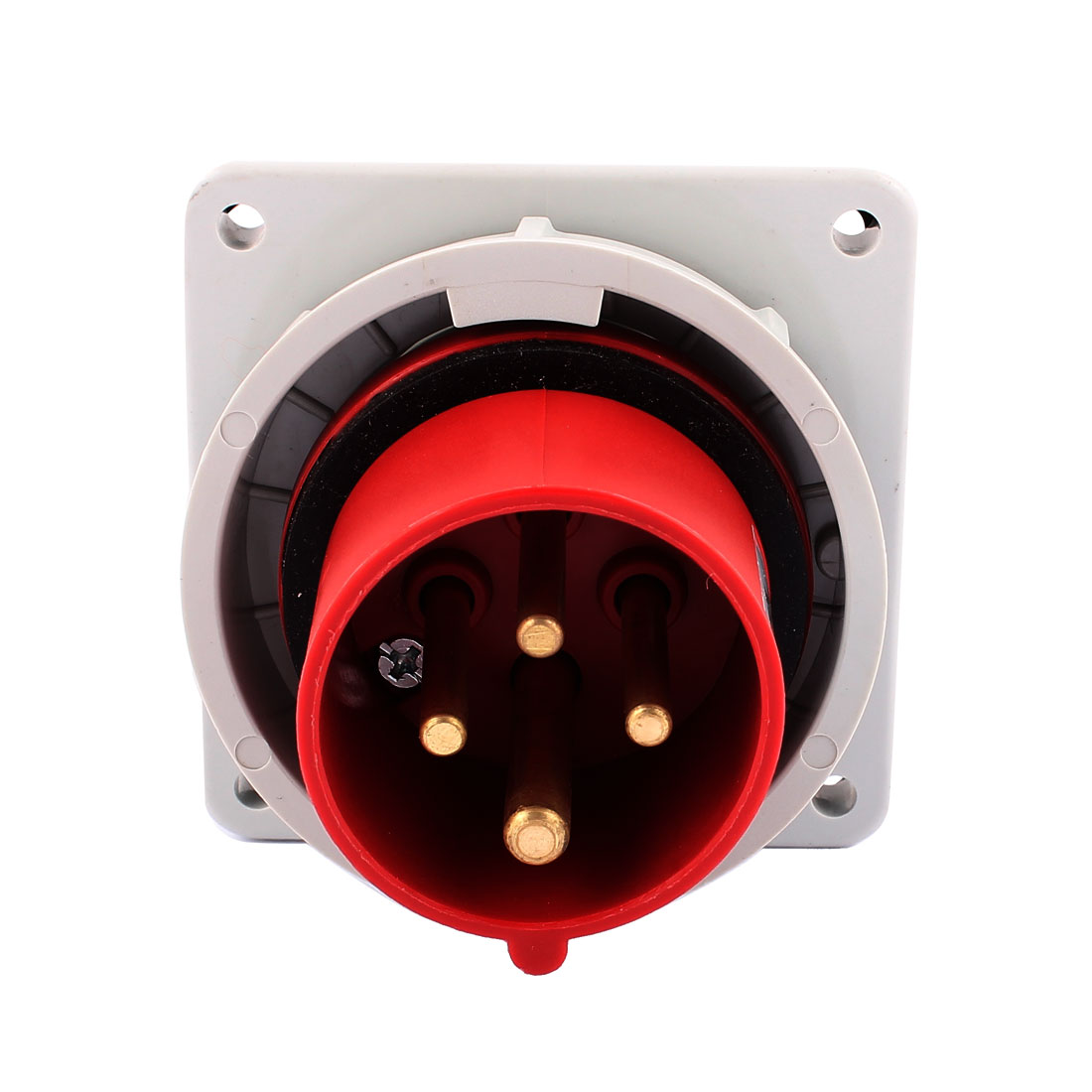 AC 380V-415V 16A IP67 3P+E 4 Terminal Male Industrial Panel Mounting Plug