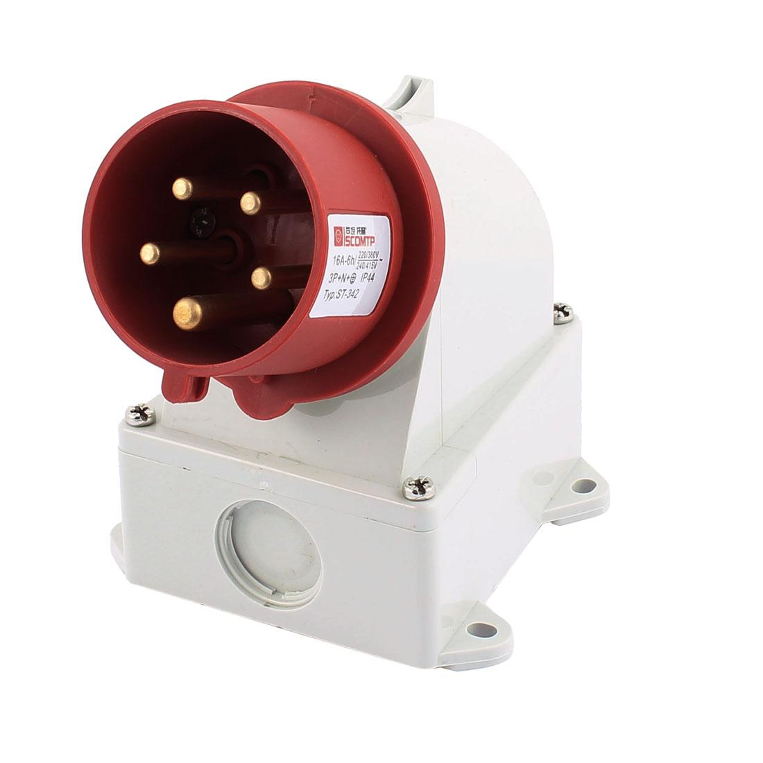 AC 240V-415V 16A IP44 3P+N+E 5-Terminal Male Industrial Caravan Plug