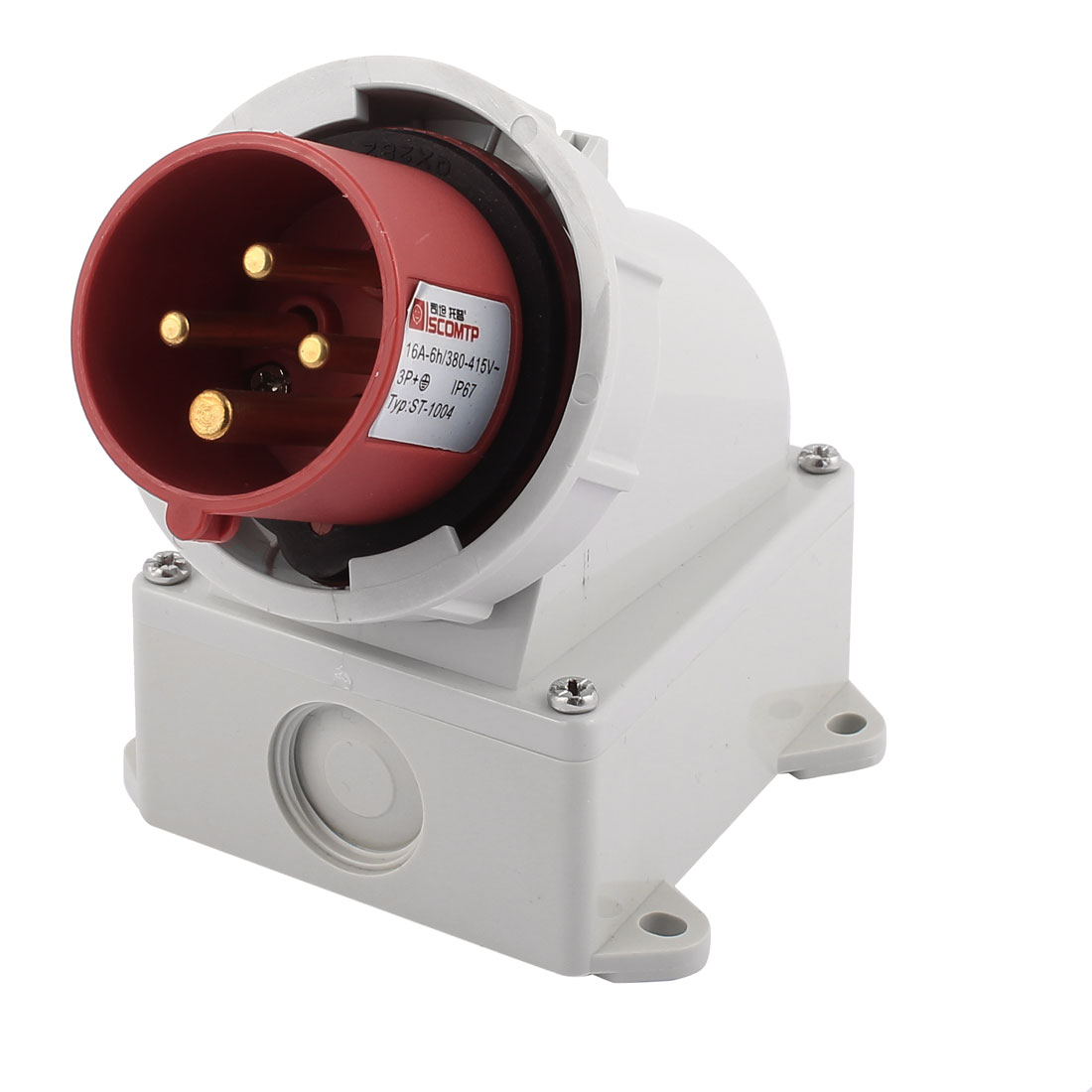 AC 380V-415V 16A IP67 3P+E 4-Terminal Male Industrial Caravan Plug