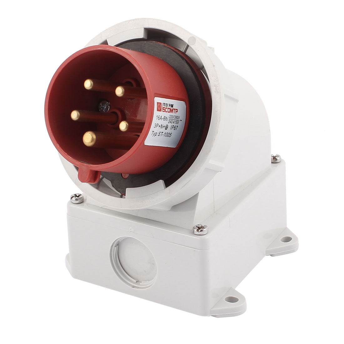 AC 240V-415V 16A IP67 3P+N+E 5-Terminal Male Industrial Caravan Plug