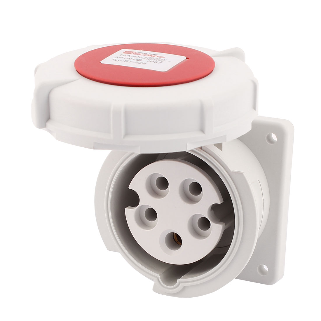 AC 240V-415V 16A IP67 3P+N+E 5-Terminal Female Industrial Straight Socket