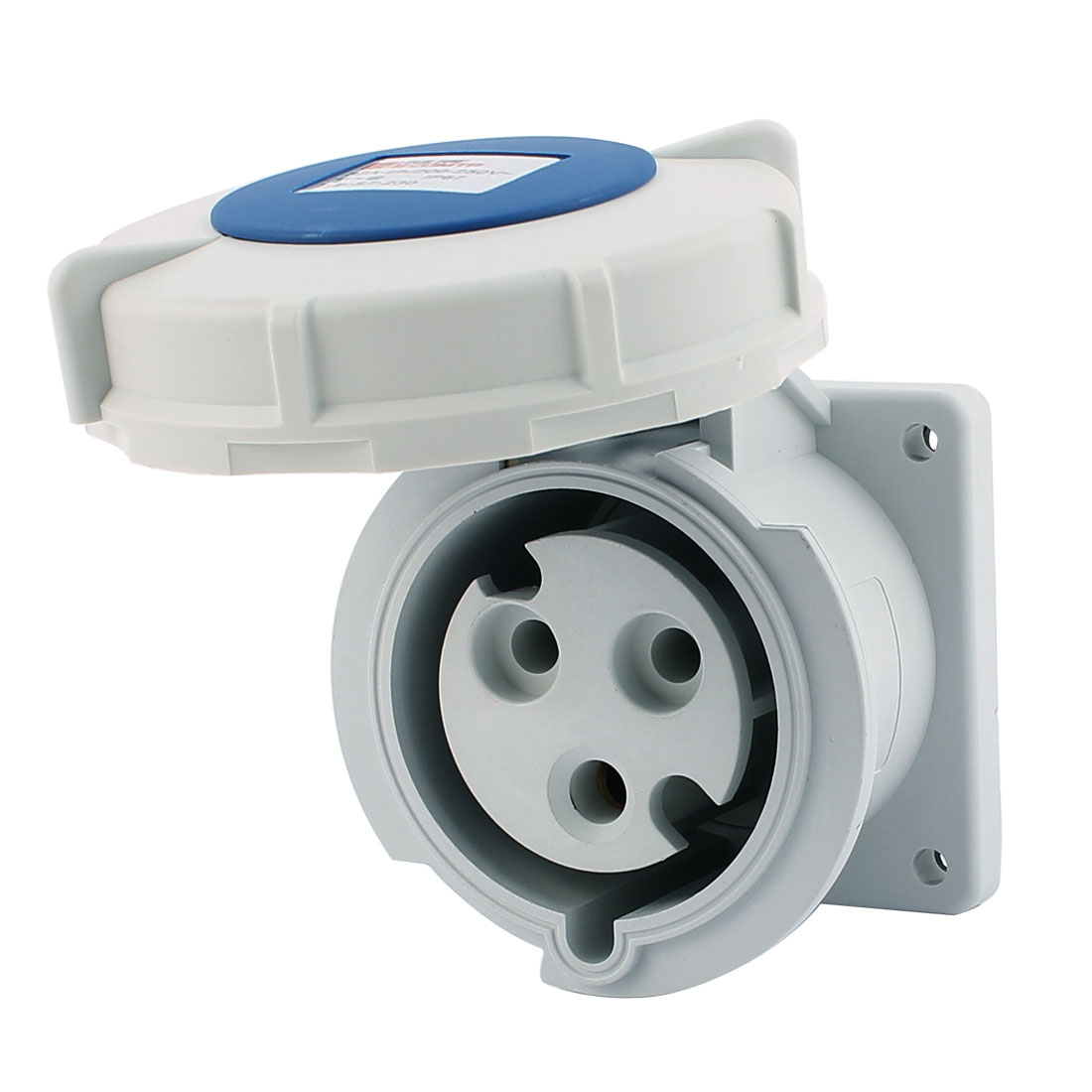 AC 200V-250V 32A IP67 2P+E 3-Terminal Female Industrial Straight Socket