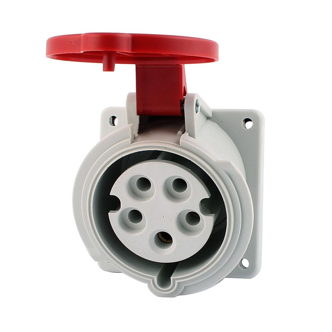 AC 240V-415V 32A IP44 3P+N+E 5-Terminal Female Industrial Oblique Socket