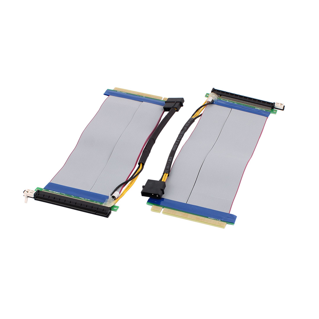 2 Pcs PCI-164 Riser Card Flexible Extension Cable for 1U/2U Rackmount Chassis