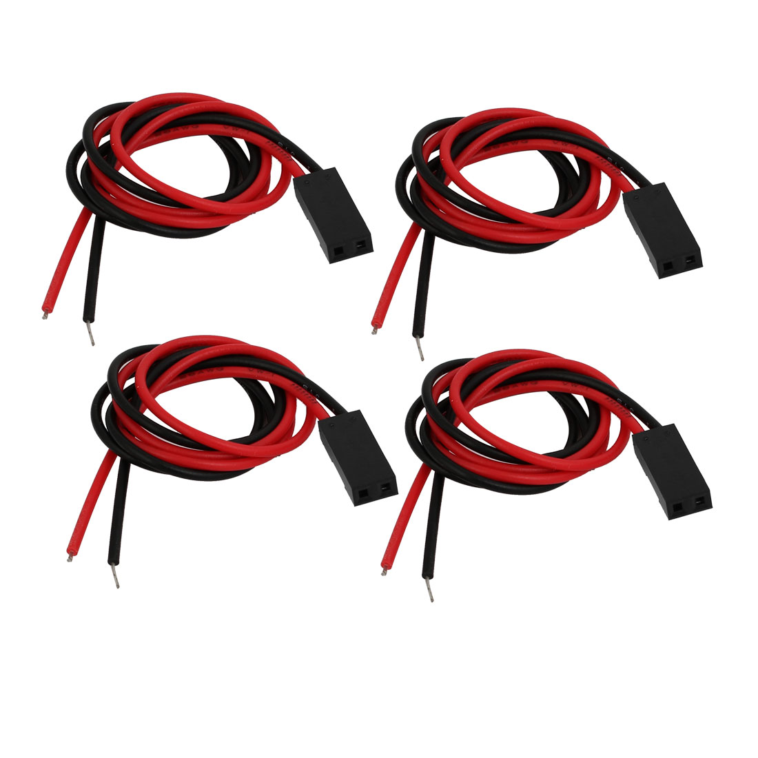 4pcs 2.54mm Ptich 2-Terminal Male Cable Connector Extension Wire 250mm Length
