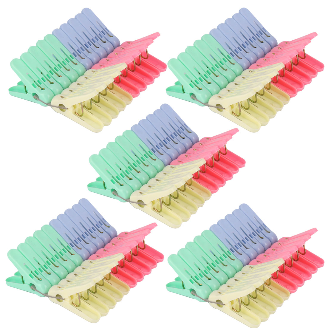 Family Laundry Socks Clothes Drying Clamp Hanging Peg Clip Clothespins 100pcs