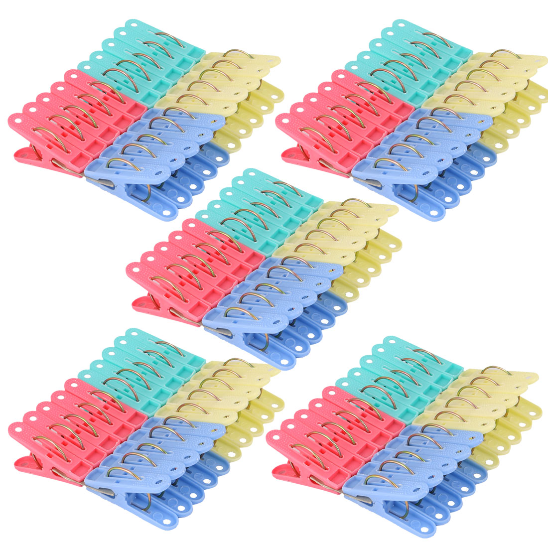 Household Laundry Socks Clothes Drying Clamp Hanging Peg Clip Clothespins 160pcs