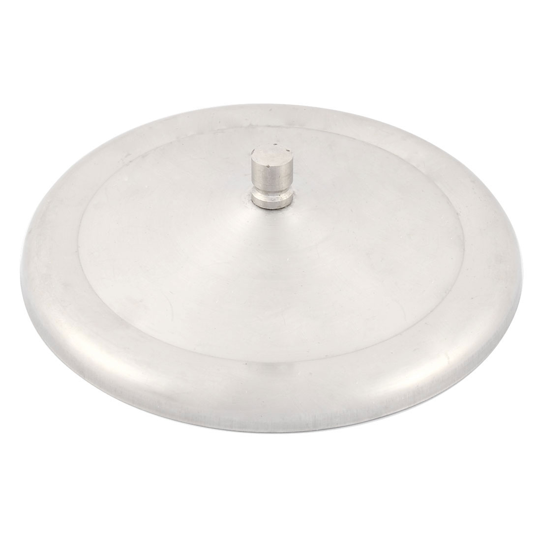Household Stainless Steel Tea Coffee Cup Lid Cover Silver Tone 12.3cm Diameter