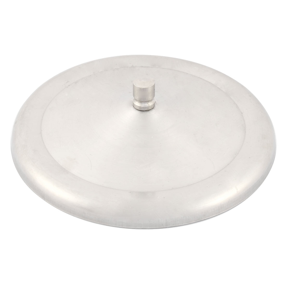 Household Home Stainless Steel Tea Coffee Water Cup Lid Cover Silver Tone