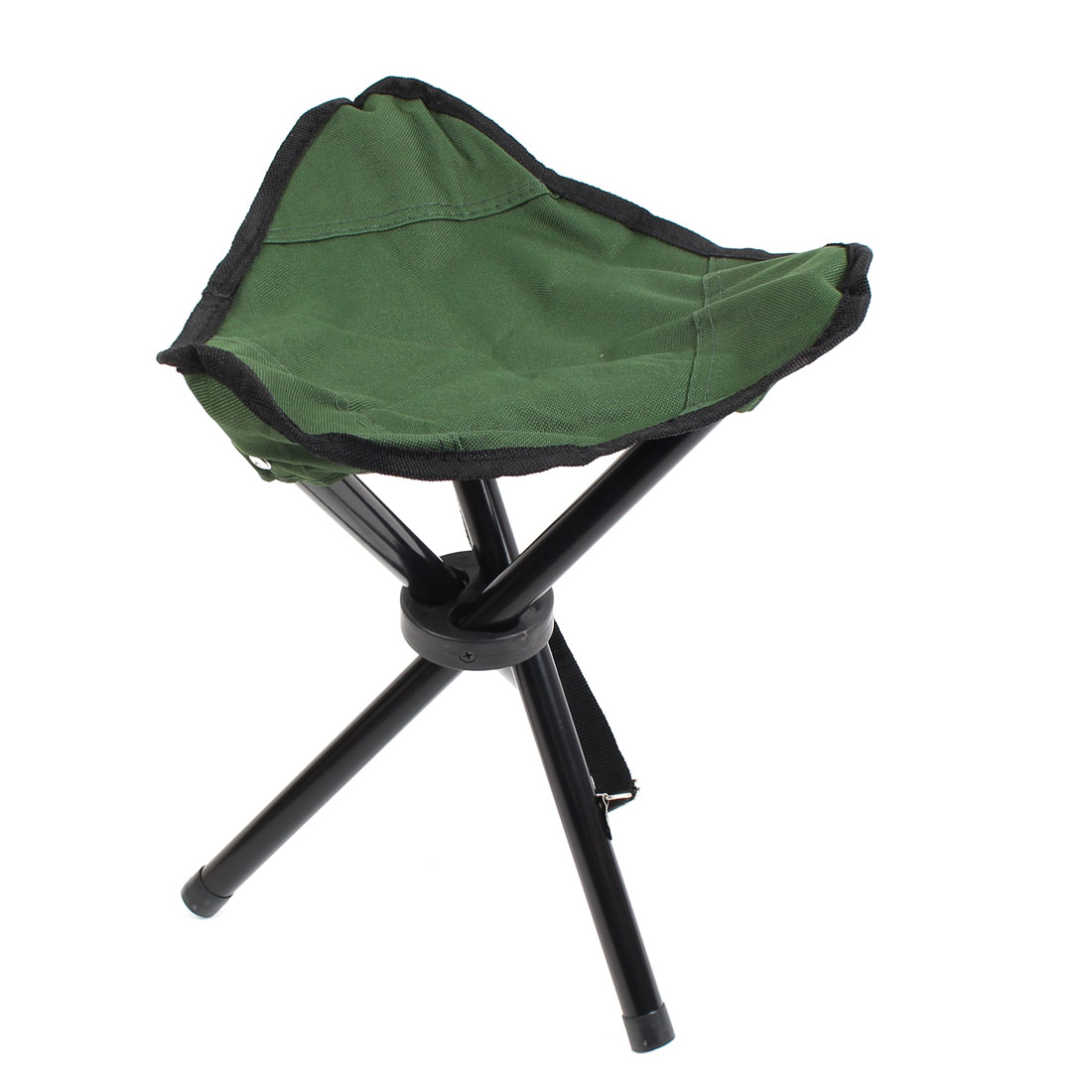Outdoor Fishing Travel Metal Frame Nylon Seat Portable Folding Tripod Chair Stool Green