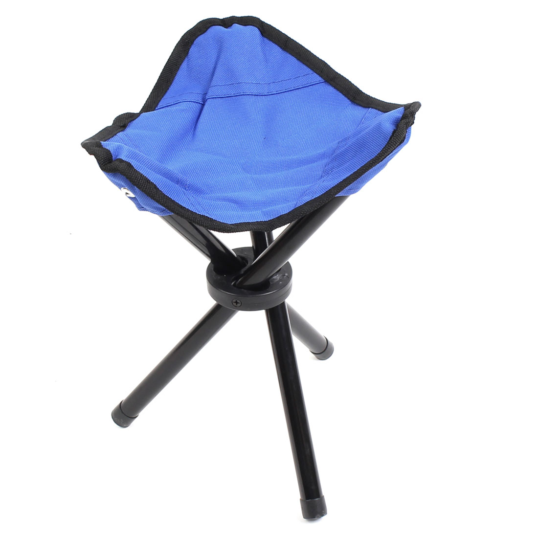 Fishing Travel Home Metal Frame Nylon Seat Portable Folding Tripod Chair Stool Blue