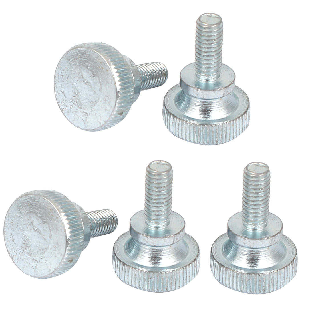5 Pcs M5x12mm Carbon Steel Metric Flat Knurled Head Thumb Screws Bolts