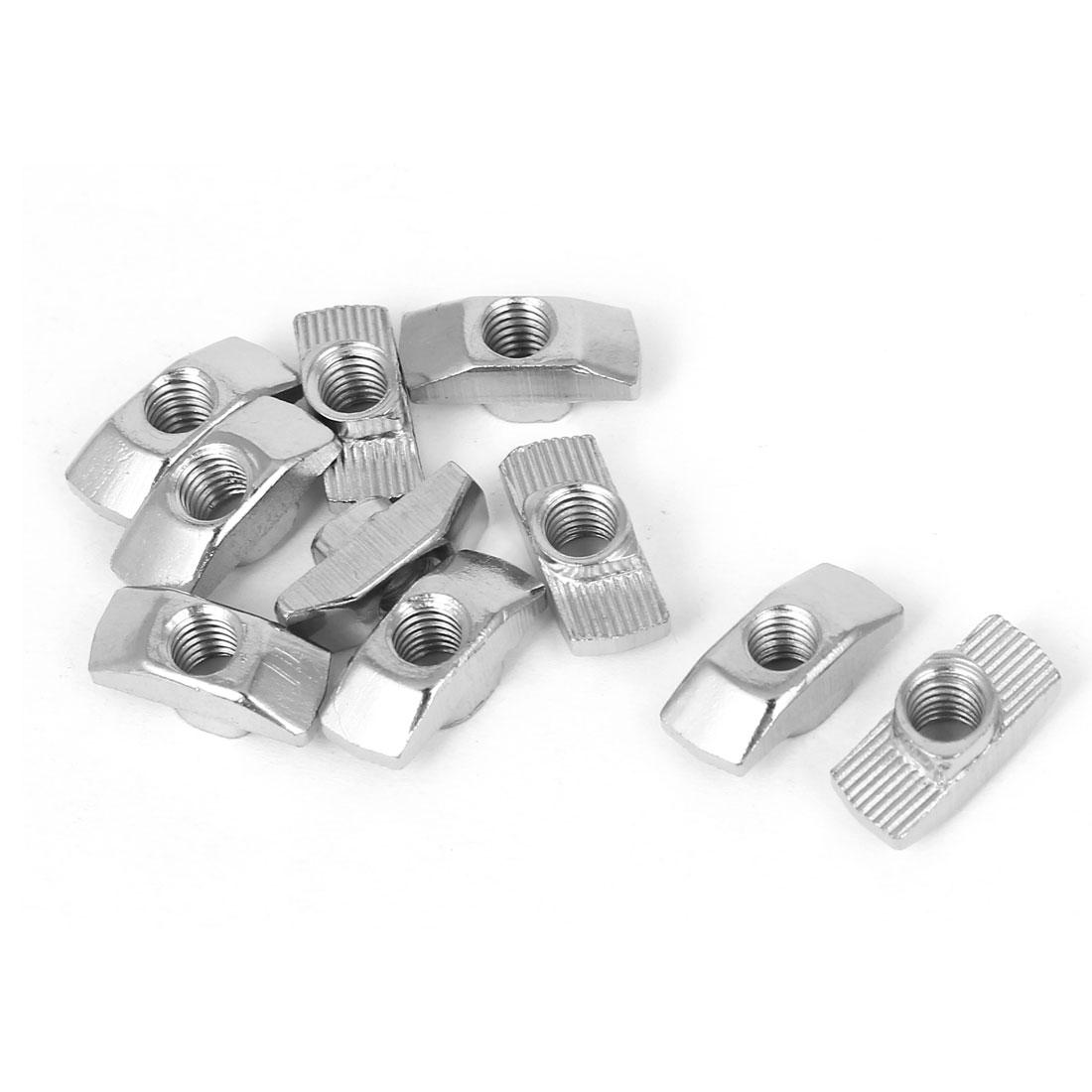 10pcs 4040 Series Aluminum Profiles Extrusion T Slot Nuts M6 Drop in T-Nuts