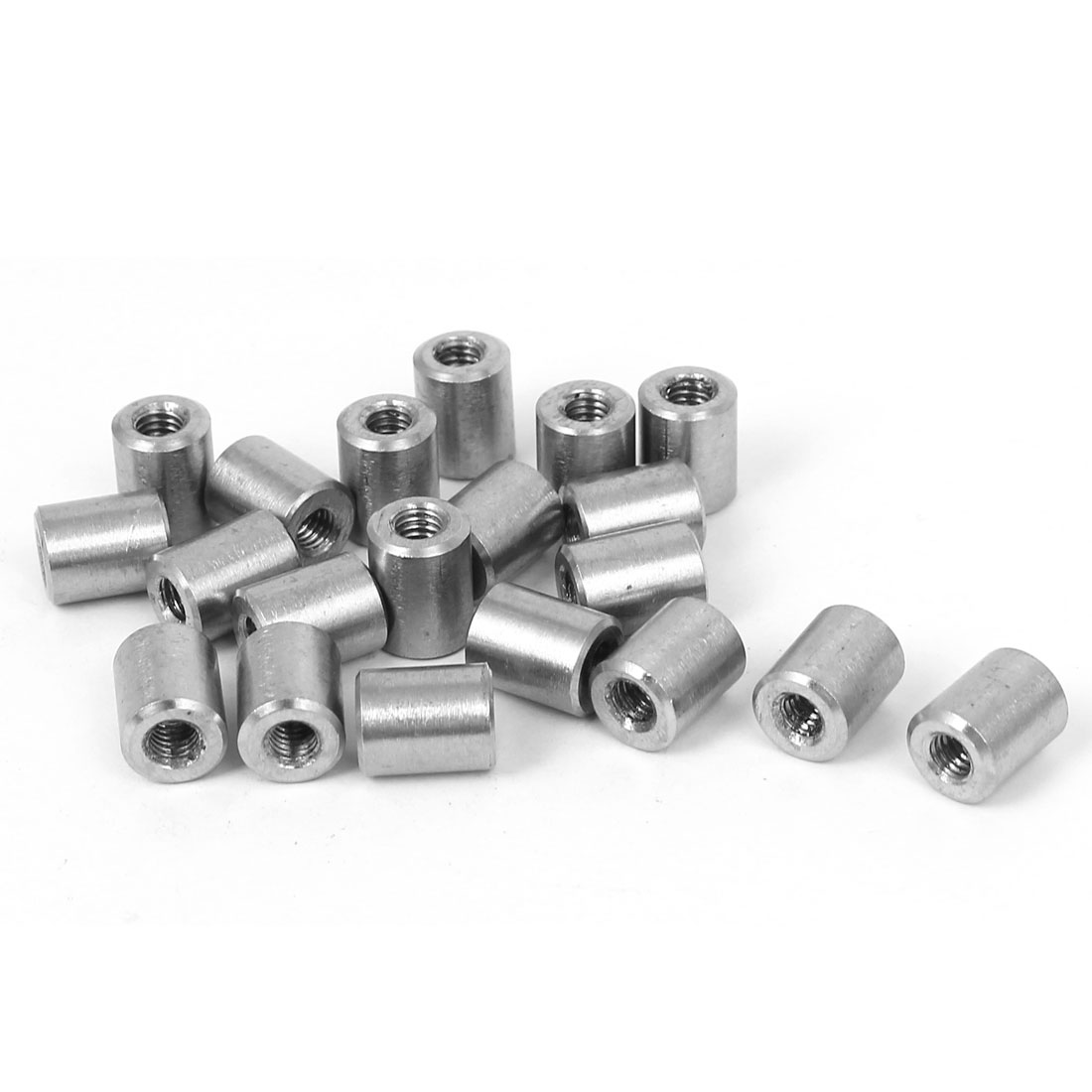 M4x10mmx8mm Threaded Rod Tube Adapter Round Coupling Connector Nuts 20pcs