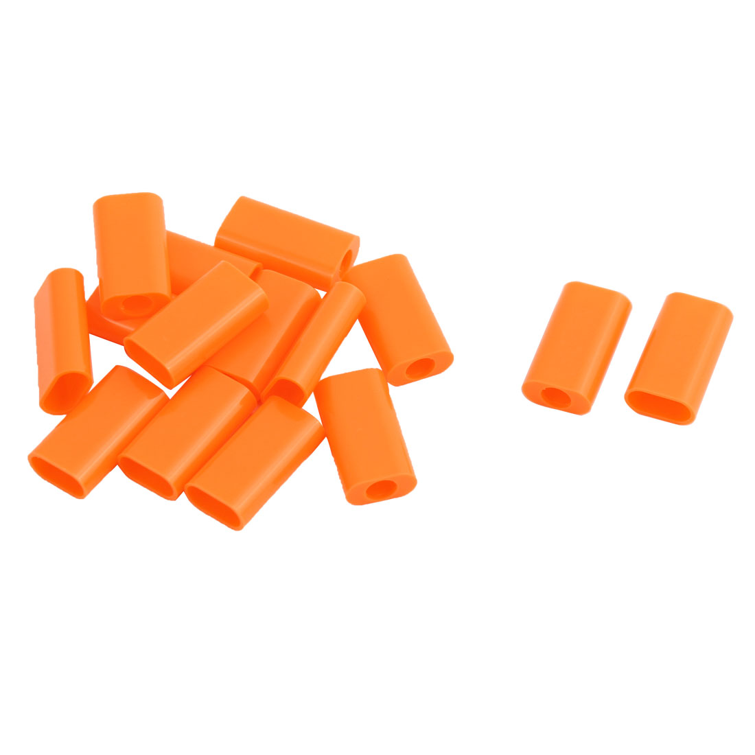 Plastic Rectangle Charge Linker USB Port Connector Shell Parts Orange 16x9x5mm 15 PCS