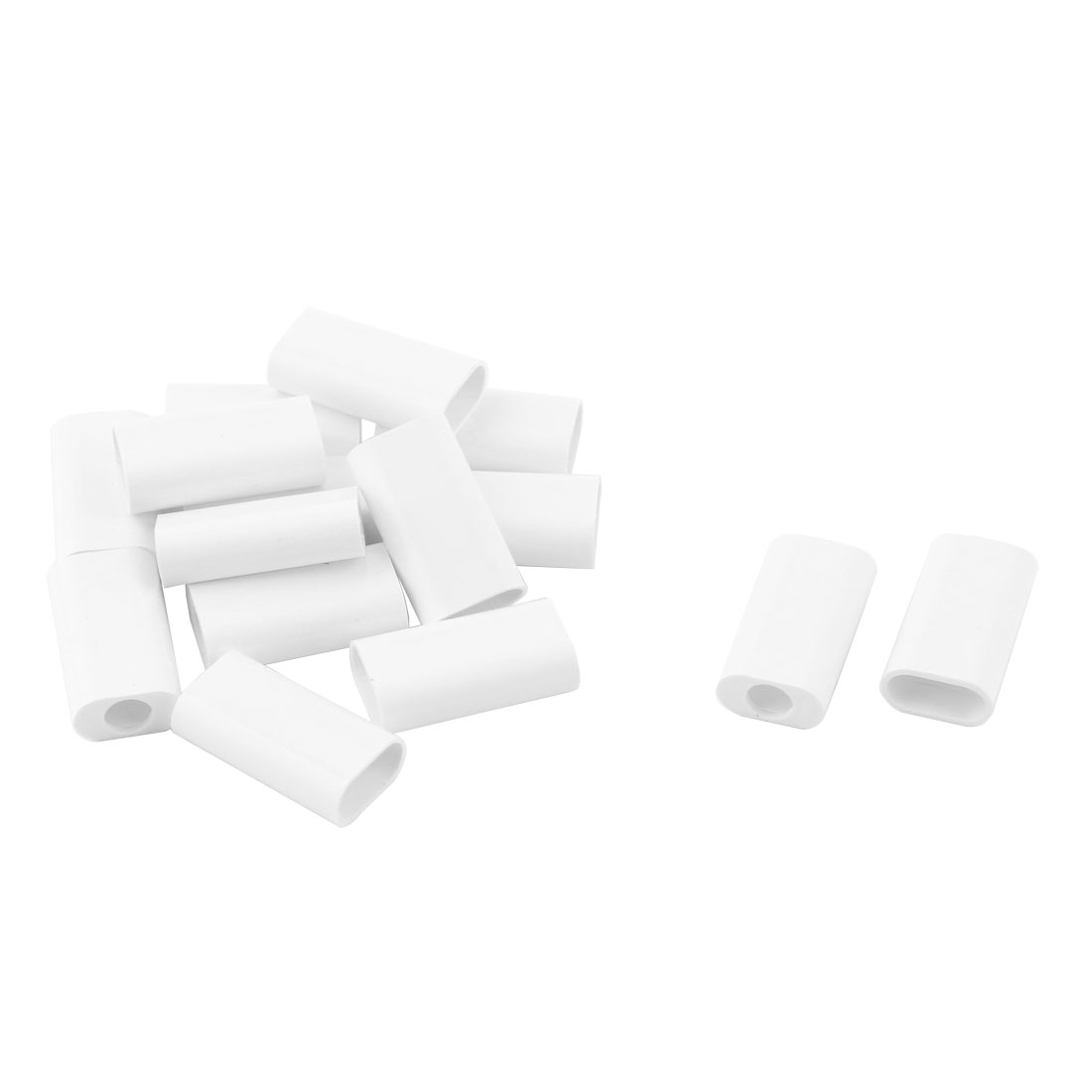 Phone Plastic Round Edge USB Port Protective DIY USB Cover Shell White 15pcs for Iphone 5