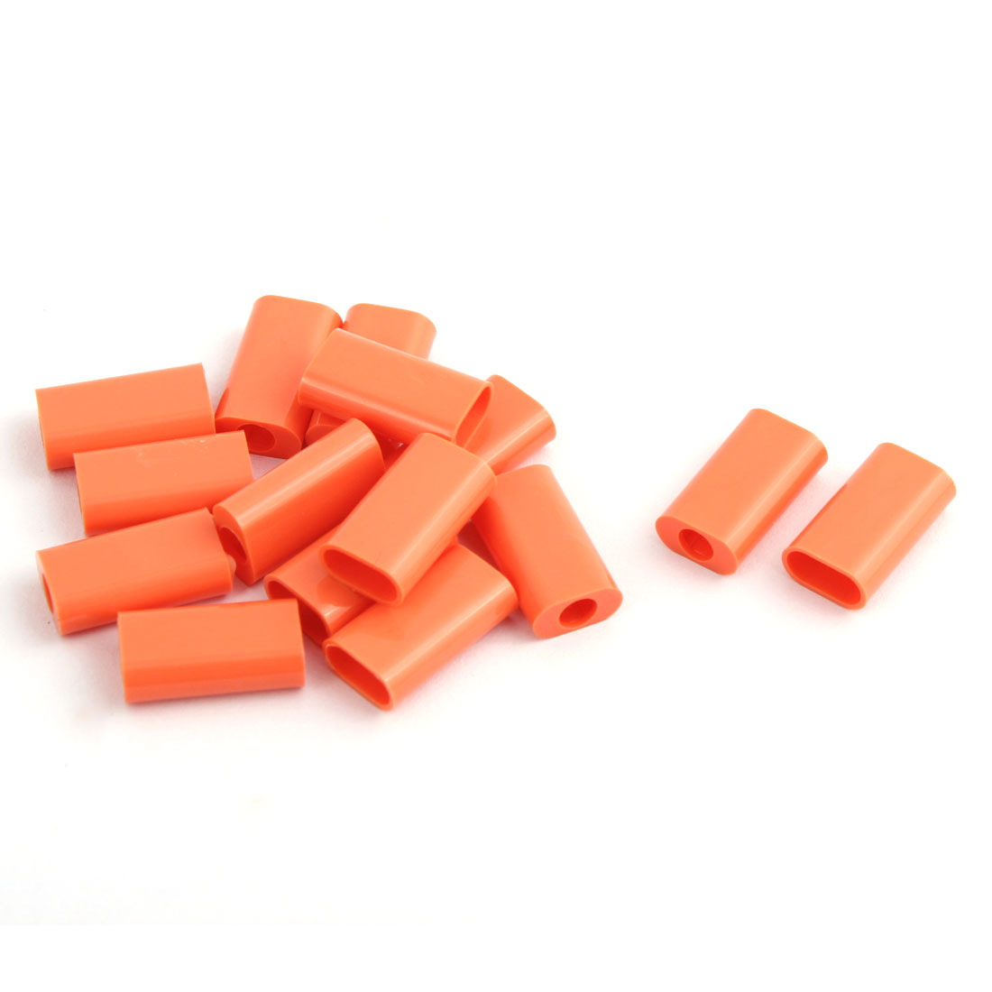 Plastic Jack Port Protective USB Port Connector Shell Parts Salmon Pink 16x9x5mm 15 PCS