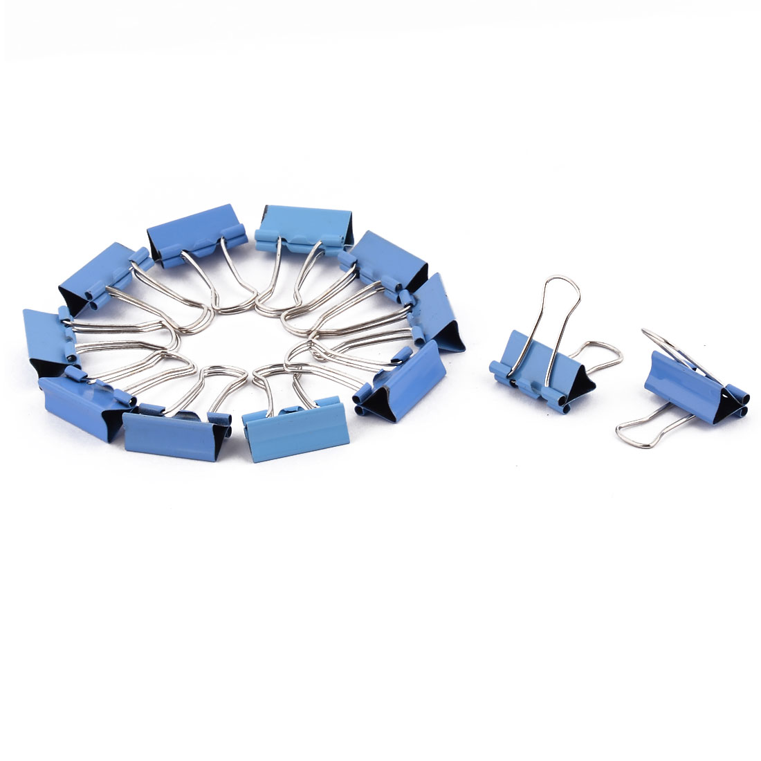 Home Metal Bill File Ticket File Paper Work Binder Clips Clamps Blue 12 PCS