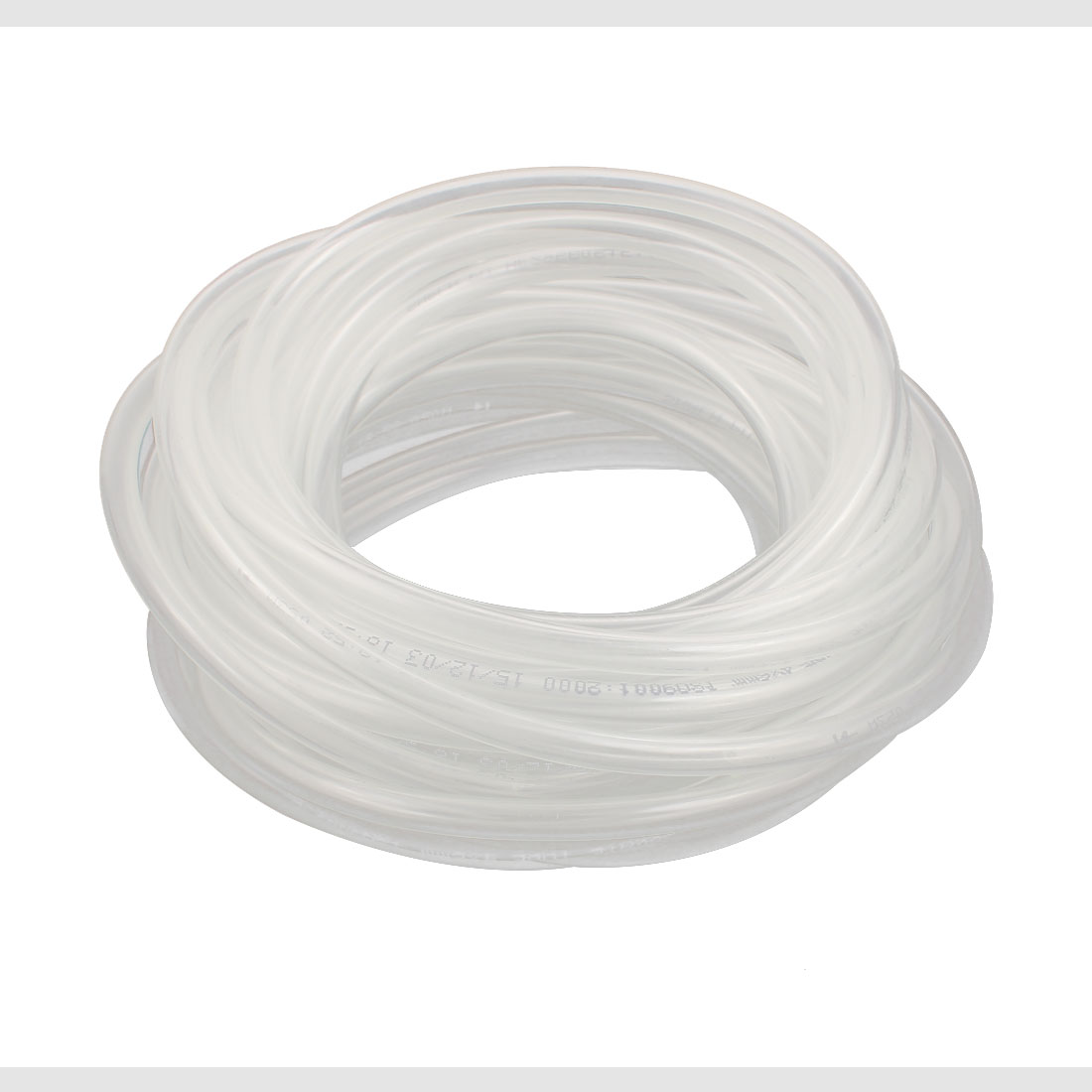 6mm x 4mm PU Flexible Pneumatic Air Tubing Pipe Hose Tube Clear 24.6Ft Long