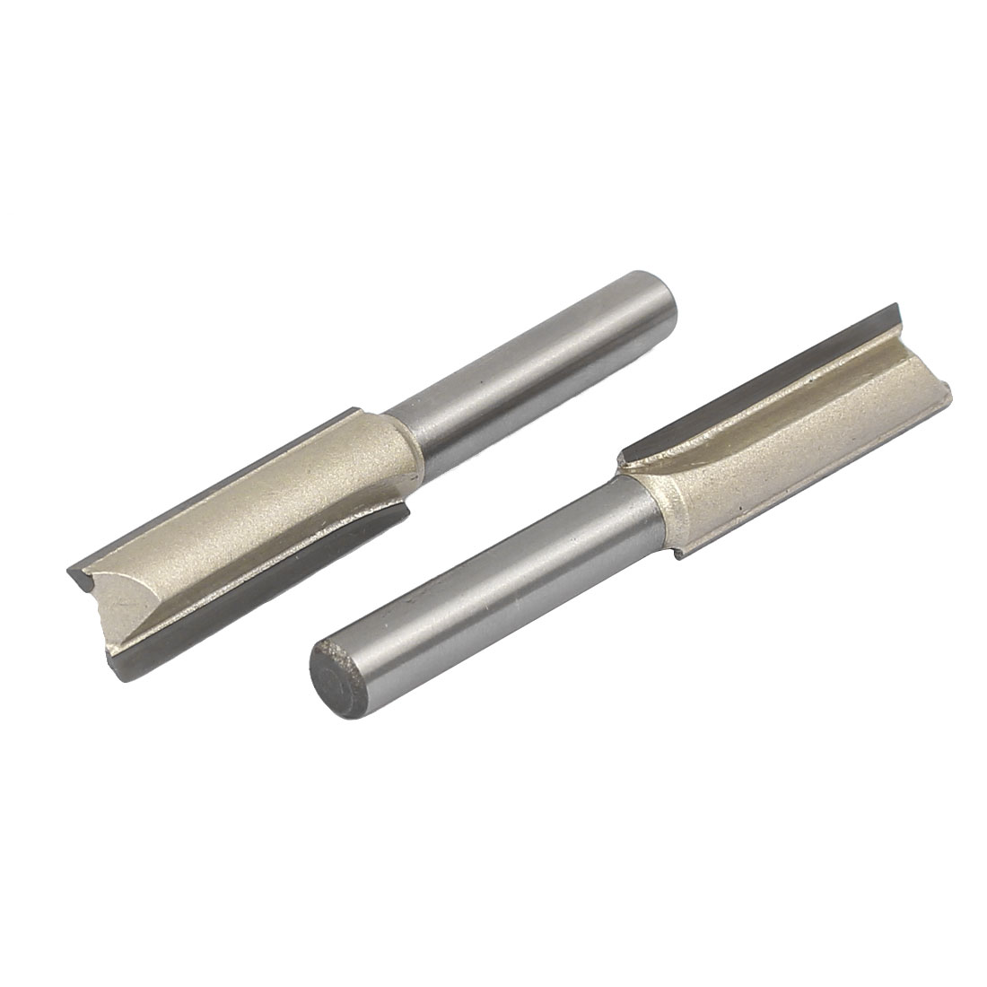 3/8-inch Cutting Dia 1/4-inch Diameter Length Double Flute Straight Router Bits 2pcs