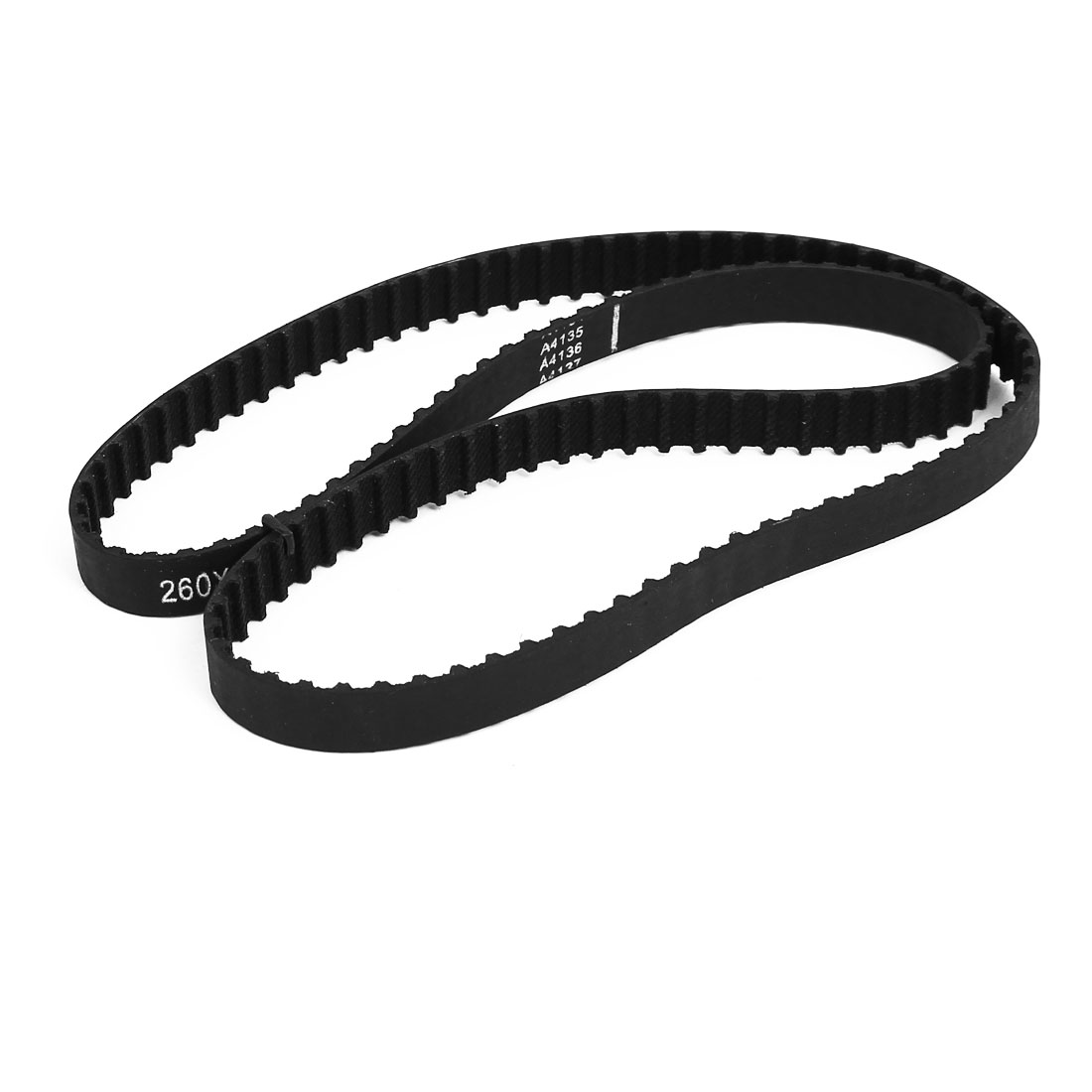 260XL Rubber Closed Loop Timing Belt Black 660mm Circumference 10mm Width