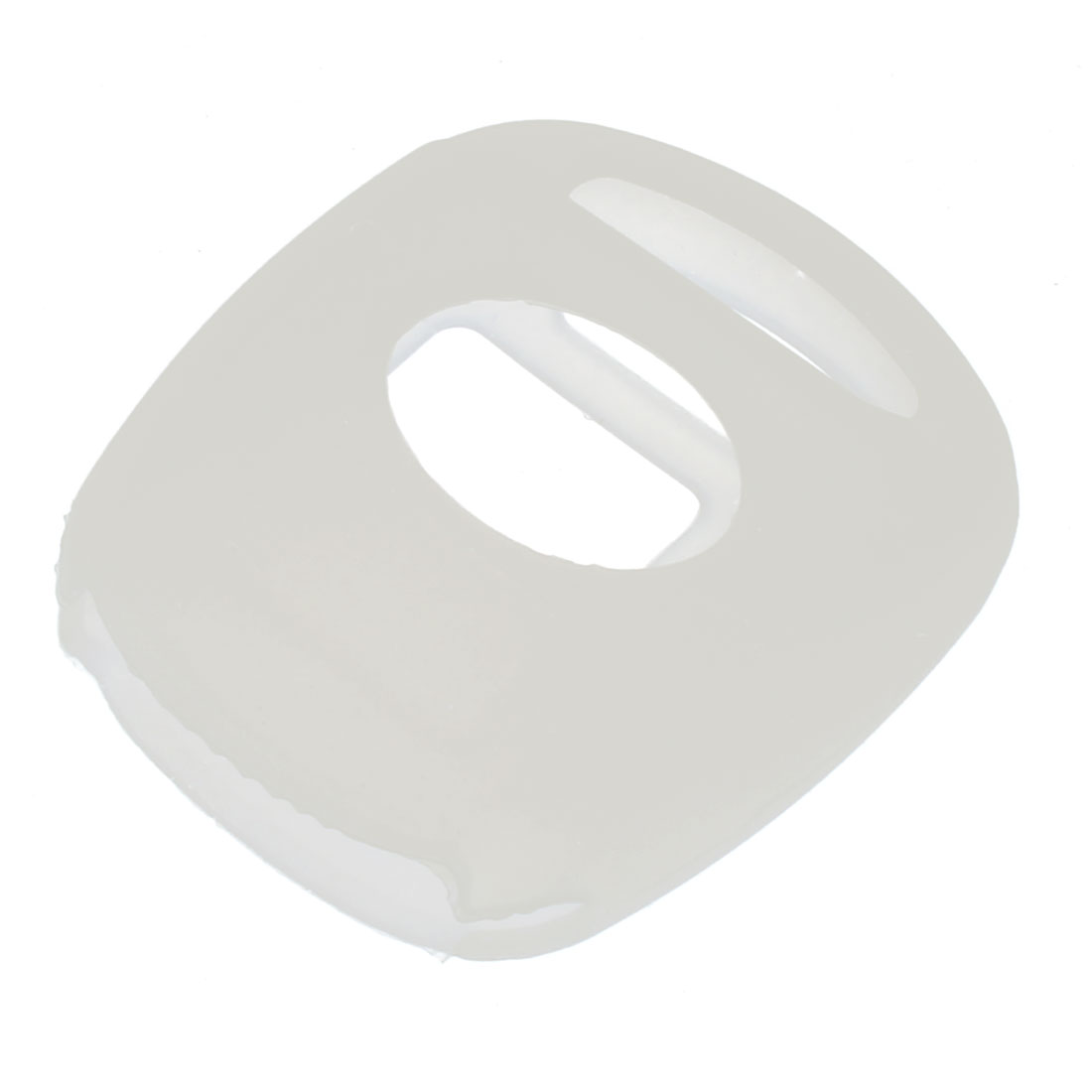 Silicone Detachable Romote Car Key Bag Protector Holder Cover Case White