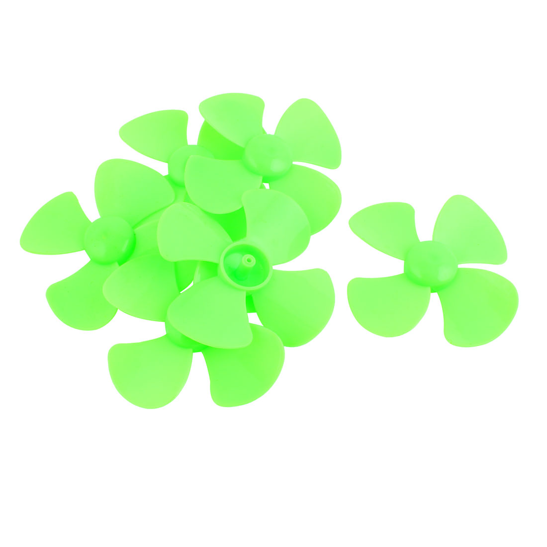 6Pcs Fan Shape 4 Vanes 80mm Dia RC Boat Propeller Paddle Green for Brushless Motor