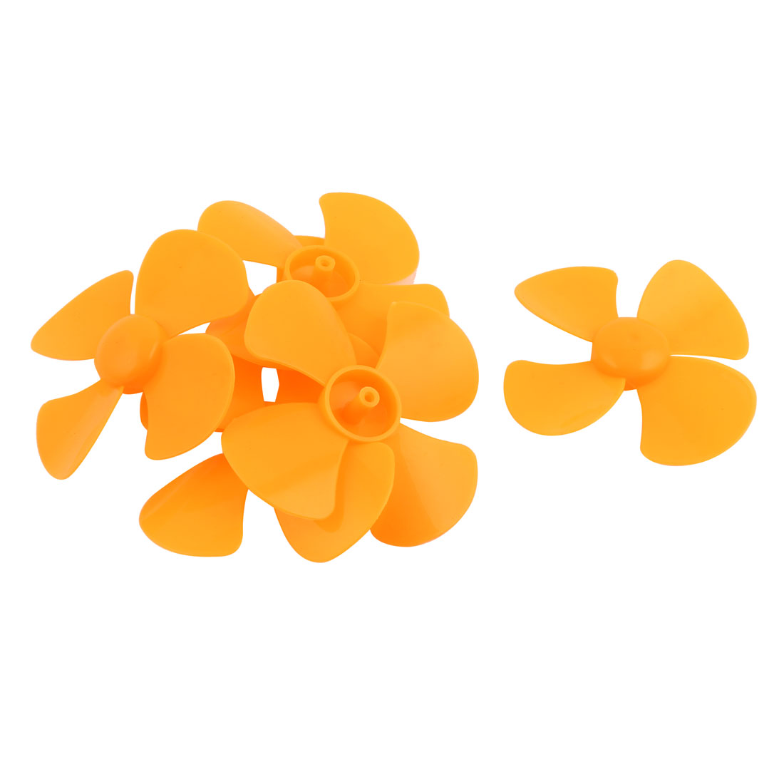 6Pcs Fan Shape 4 Vanes 80mm Dia RC Boat Propeller Paddle Yellow for Brushless Motor