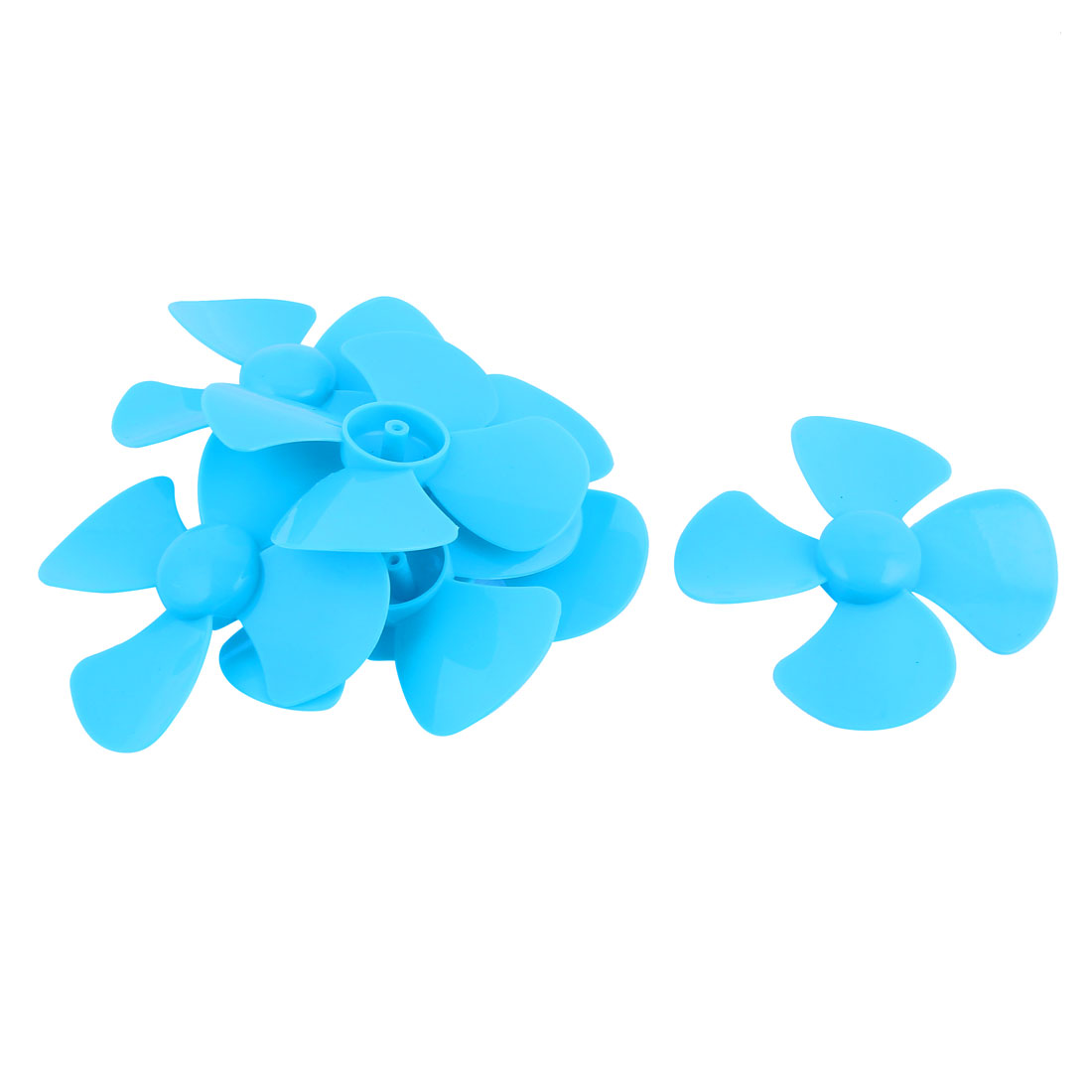 6Pcs Fan Shape 4 Vanes 100mm Dia RC Boat Propeller Paddle Blue for Brushless Motor