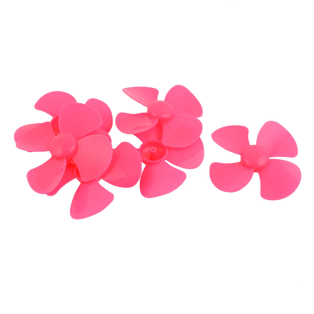 6Pcs Fan Shape 4 Vanes 100mm Dia RC Boat Propeller Paddle Pink for Brushless Motor