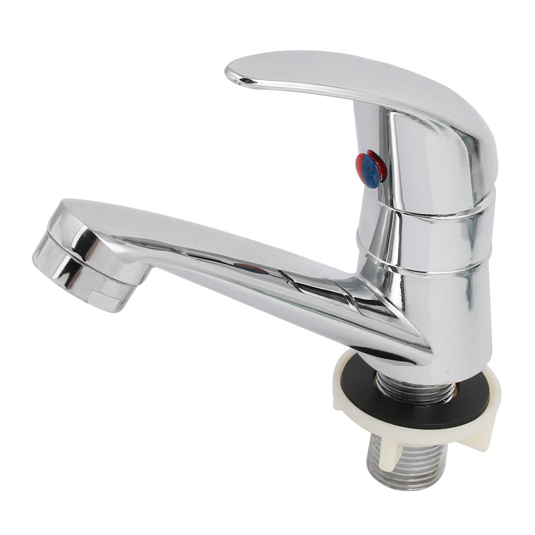 Kitchen Bathroom Stainless Steel Sink Basin Rotary Water Tap Faucet Switch