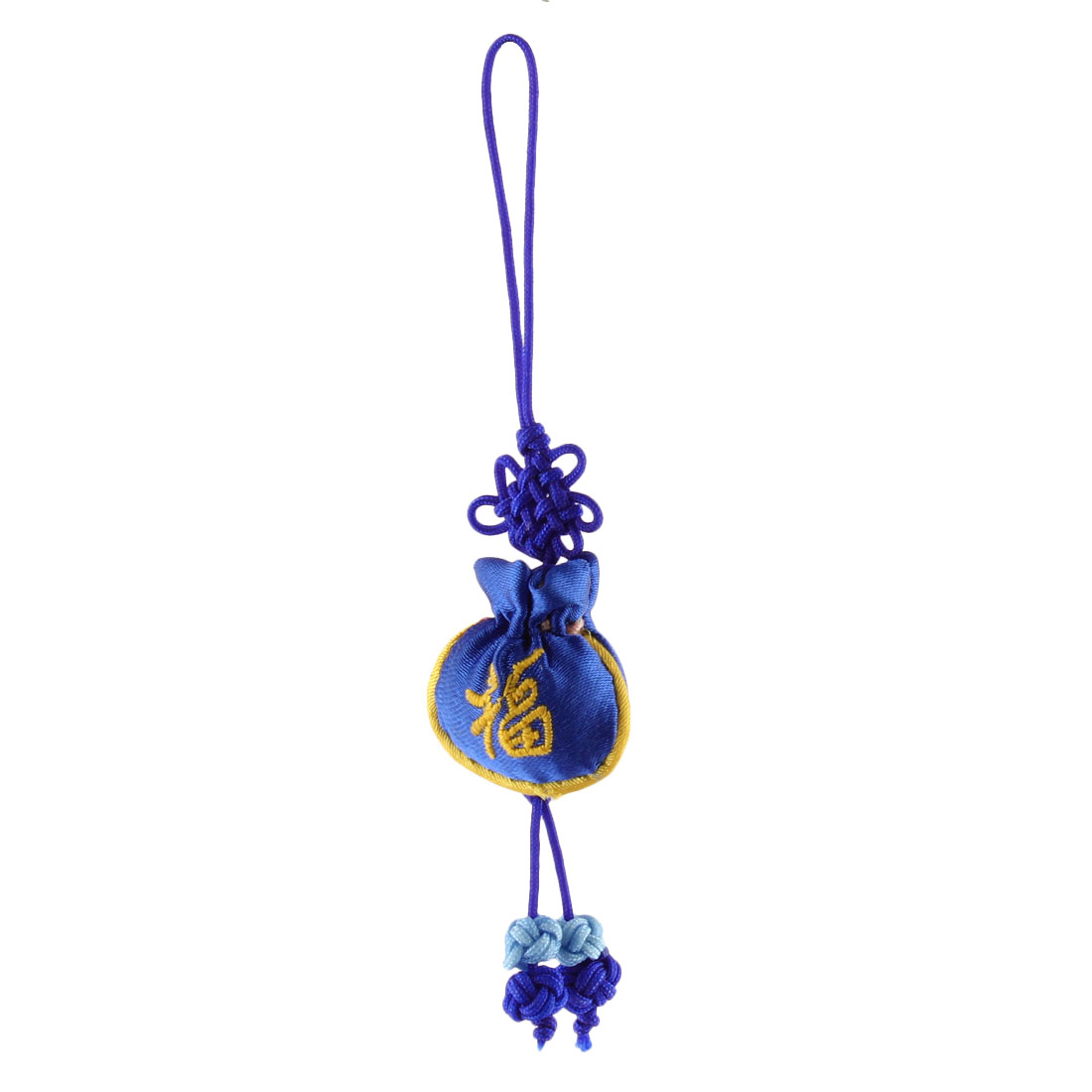 Household Chinese Mini Embroidery Luck Sachet Pendant Hanging Knot Dark Blue