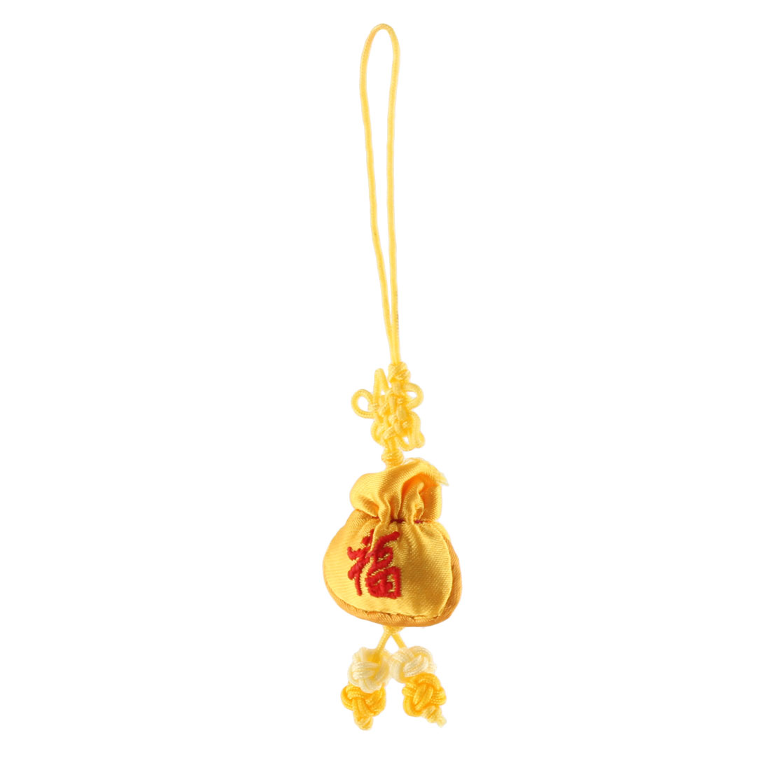 Household Chinese Mini Embroidery Luck Sachet Pendant Hanging Knot Yellow