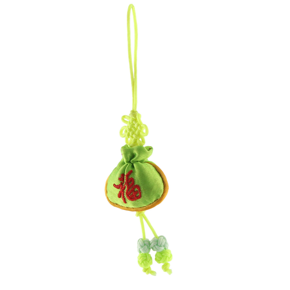 Household Mini Chinese Embroidery Luck Hanging Sachet Pendant Knot Light Green