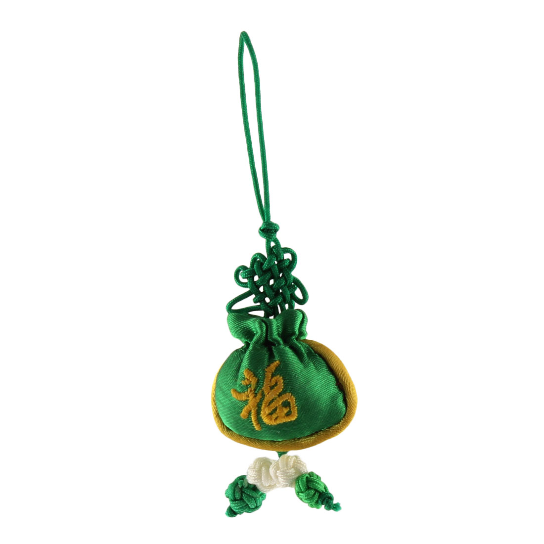 Household Mini Chinese Embroidery Luck Sachet Pendant Knot Hanging Decor Green