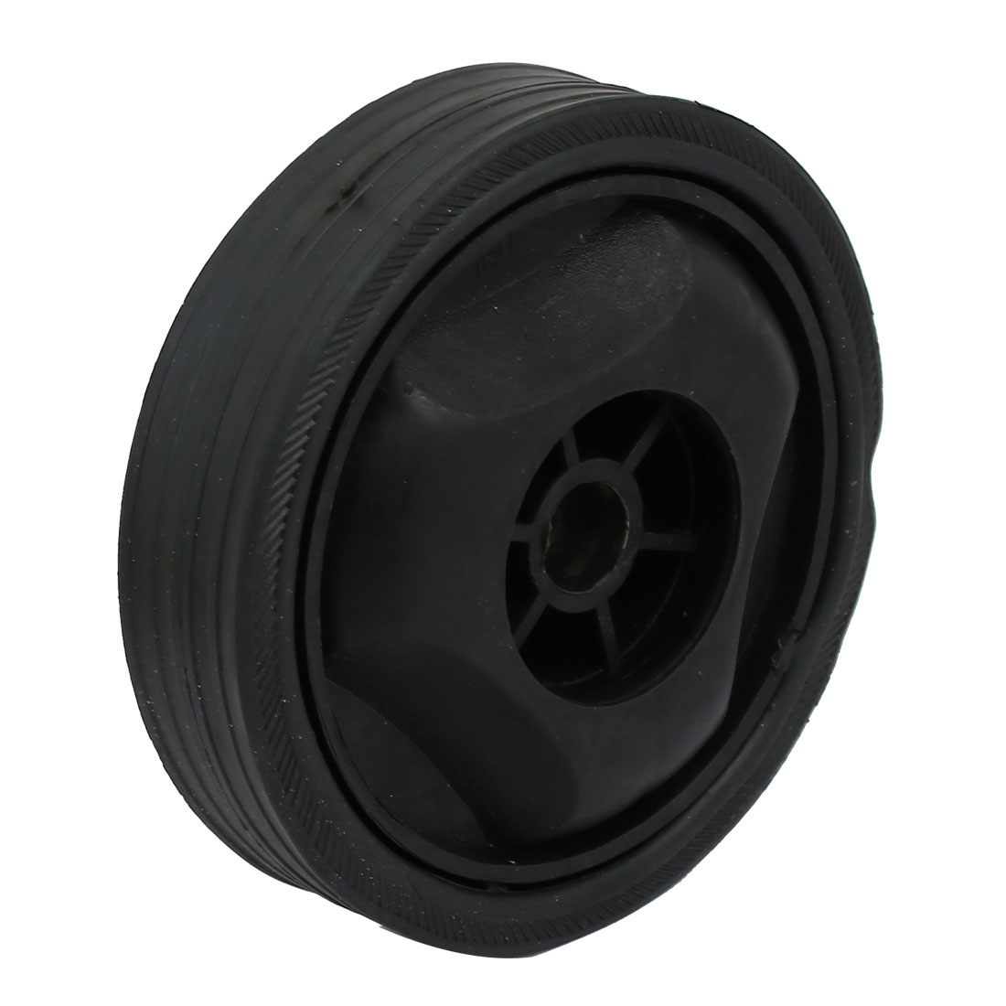 122mm Dia Plastic Replacement Parts Wheel Casters Black for Air Compressor