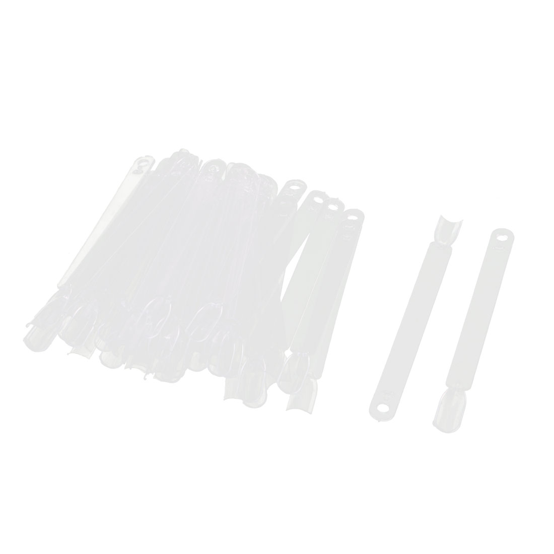 Manicure Plastic Fan Board Nail Art Tips Display Practice Sticks 46 in 1